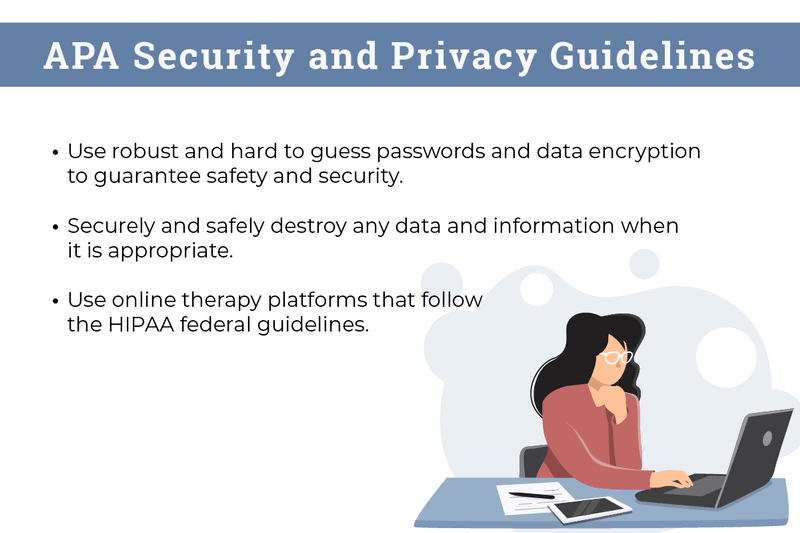 Picture of APA Security and Privacy Guidelines Bullet Points