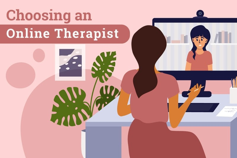 Picture of Person talking to Online Therapist
